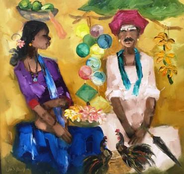 Badami Woman and Badami Man