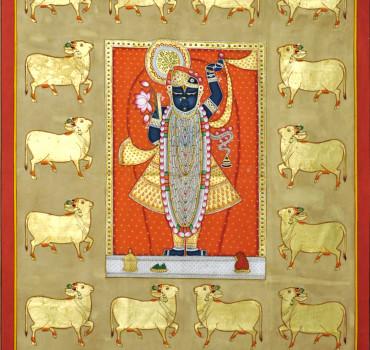 Shreenathji With Gold Cows