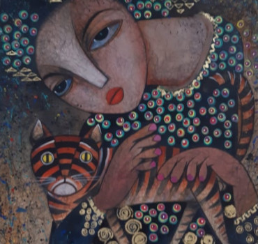 Lady With Cat I