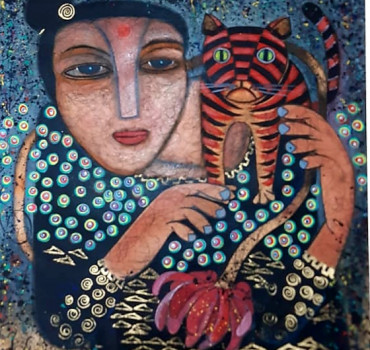 Lady With Cat II