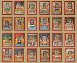 24 Piece Srinathji Darshan | 14 X 11 Inches Each