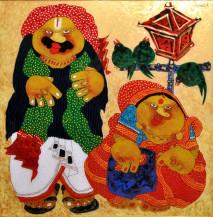 Baba and Bibi | 36 x 36 Inches