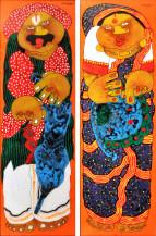 Baba Bibi Panels | 36 X 12 Inches each