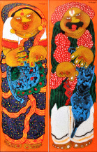 Baba Bibi Panels | 36 X 12 Inches each