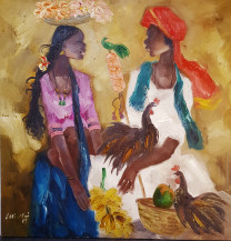 Badami Man and Woman | 30 X 30 Inches