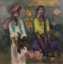 Badami People 1 | 30 X 30 Inches