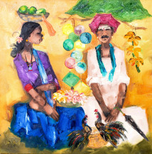 Badami People I | 30 X 30 Inches