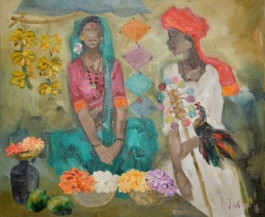 Badami People 1 | 30 x 36 Inches