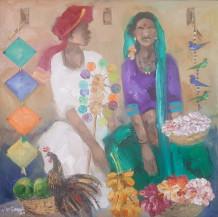 Badami People | 30 x 30 in