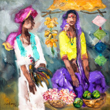 Badami People II | 30 x 30 Inches