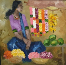 Badami Woman | 30'' x 30''