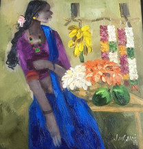 Badami Woman | 18 X 18 Inches