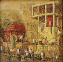 Banaras | 18 x 18 Inches
