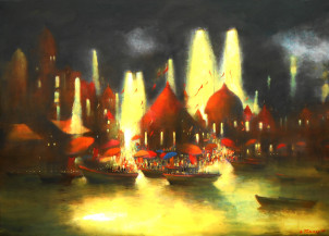 Banaras evening aarti | 34.5