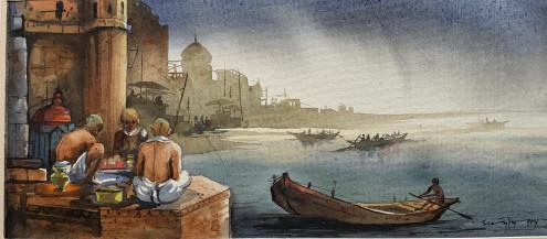 Banaras I | 10 X 22 Inches