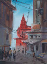 Banaras Temple   16 X 12 Inches