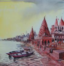 Benaras Temple | 24 X 24 Inches