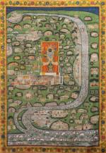 Brij Chaurasi Kos    101 x 72 Inches