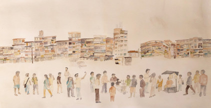 Busy Streets | 18 x 35 in