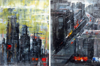 Cityscape IA and IB | 8 X 6 Inches each