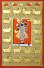 Shreenathji With Gold Cows | 61 X 40 Inches