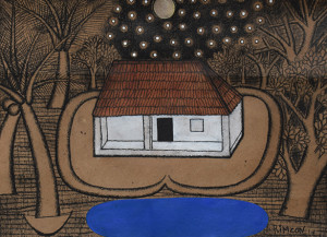 House Under the Moon | 13 3/4 x 18 1/2 in
