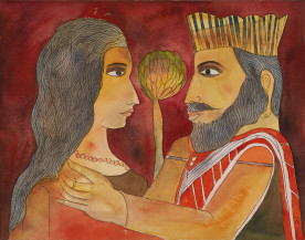 King & Queen   11 X 14 Inches