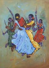 Kolatam Dance | 26 X 19 Inches
