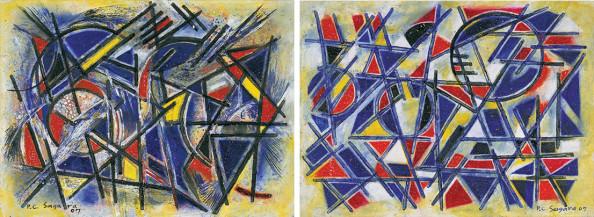 Landscape I & II (Mount Abu Series) | 11 x 15 in each