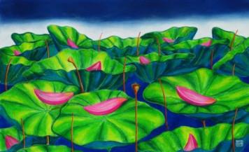 Lotus 2 | 14.5 x 24 Inches
