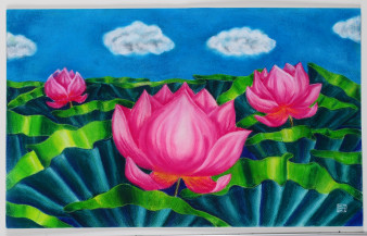 Lotus I | 14.5 x 24 Inches