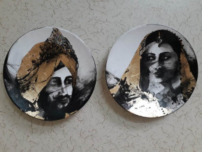 Maharaja And Maharani | 9 Inch diameter each