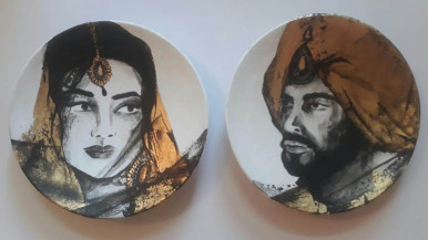 Maharaja and Maharani | 9 Inches Diameter Each