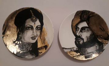 Maharaja and Maharani II | 9 Inches diameter each
