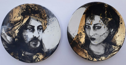 Maharaja and Maharani II | 9 Inch diameter each