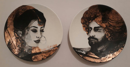 Maharaja & Maharani I | 9 Inches diameter each