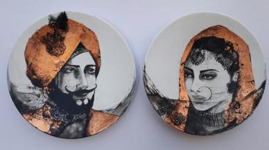 Maharaja & Maharani I | 9 Inch diameter each
