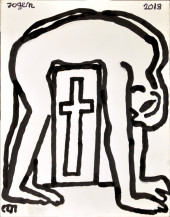 Man On The Cross | 14 X 11 Inches
