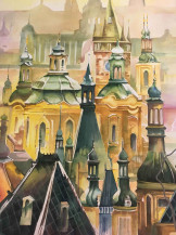 Minarets | 41 1/2 x 29 1/2 in