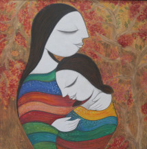 Mother And Child | 30 X 30 Inches