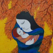 Mother and Child I | 27 X 27 Inches
