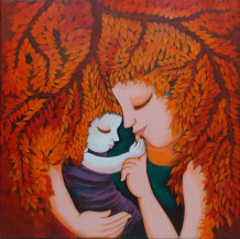 Mother and Child II | 30 X 30 Inches