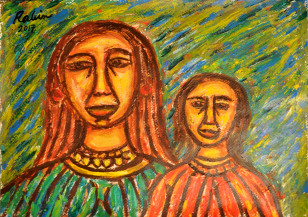 Mother and Daughter | 16.2 X 23.1 Inches