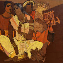Musicians   24 X 24 Inches