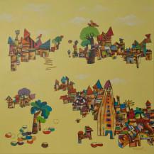 My Village | 36 X 36 Inches