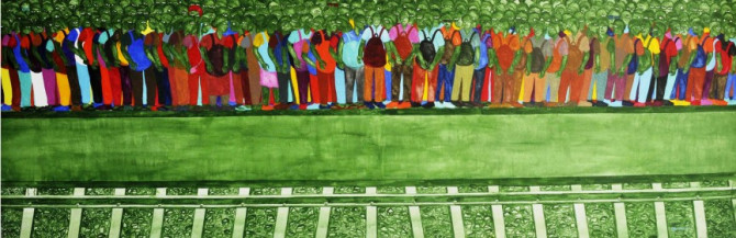 On Your Mark Get Set  Go | 36 x 108 Inches