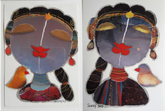 Radha I (Set fo 2) | 7 X 5 Inches