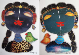 Radha I (Set of 2) | 7 X 5 Inches each