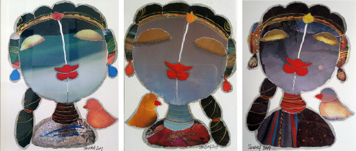 Radha Series (Set of 3) | 7 X 5 Inches each