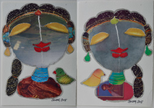 Radha (Set of 2) | 7 X 5 Inches each